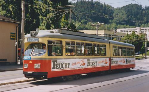 8th August 1992. Innsbruck Tram No. 37, Innsbruck, Austria
