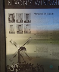 Handorf in the Adelaide Hills. Information board on the history of Nixon's wind sail driven flourmill built in 1842 and gifted to the local Council in 1929.