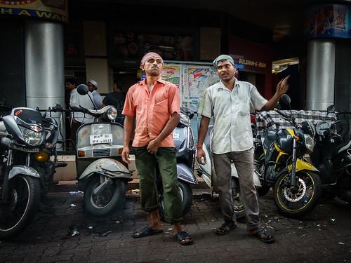 Two Friends, One Posing, Mumbai