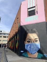 Shoreditch street art: wear a mask