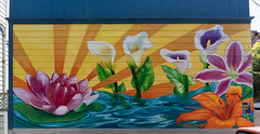Radiant Blooms mural, San Francisco