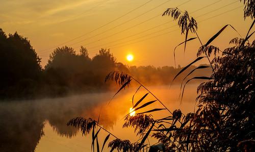 When the sun rises, the fog comes.