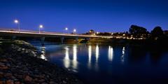 Fitzherbert Bridge at night