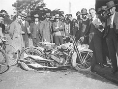 A damaged V-Twin motorcycle, Sam Hood