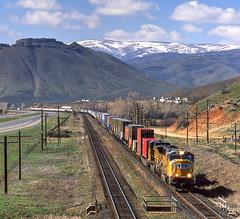 UP 4611 east Intermodal, Henefer Utah 07.04.2003