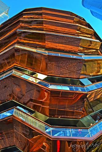 The Vessel Reflections Hudson Yards Manhattan New York City NY P00601 DSC_2274