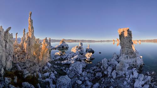 Beautiful Sunset Panorama at Mono Lake, California