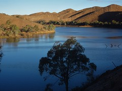 Aroona Dam near Leigh Creek in the Flinders Ranges. Late afternoon in July..