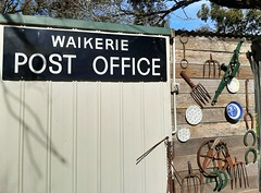 Adelaide. Old sign from the Waikerie Post Office now adorns a garden shed.
