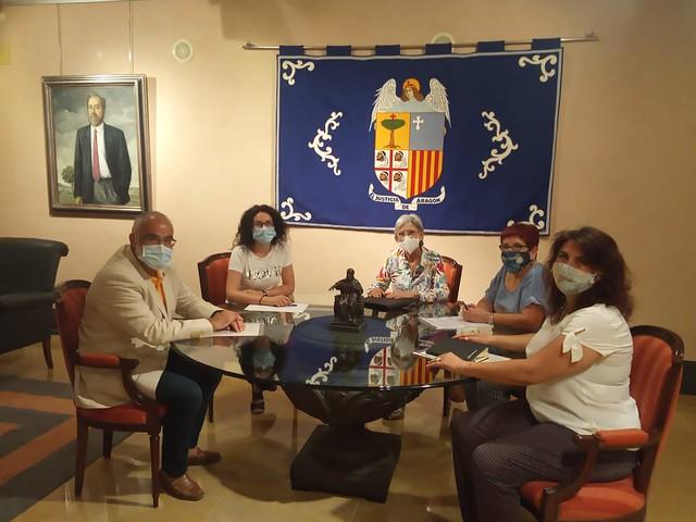 Reuníón con Colegio Trabajadores Sociales de Aragón