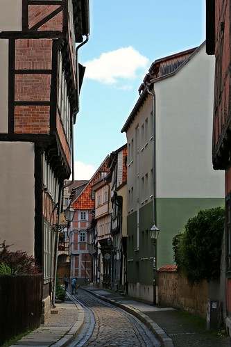 Gassen  in Quedlinburg