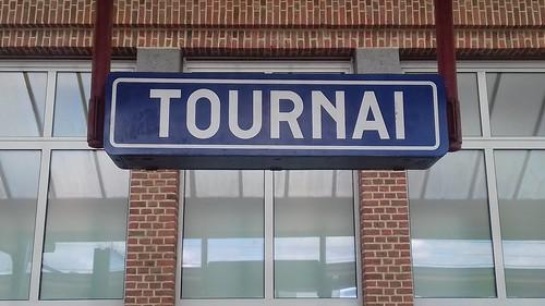 Tournai/Doornik, stationsbord