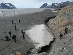 Getting off the Llewellyn Glacier