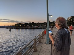 Sunset With Cell Phone