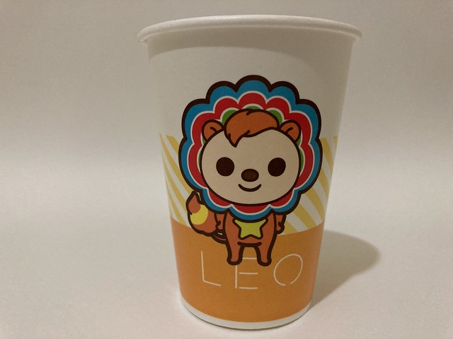 Photo:7-Eleven Taiwan OPEN小將 OPEN-chan Leo lion By Majiscup Paper Cup Museum 紙コップ美術館