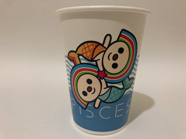 Photo:7-Eleven Taiwan OPEN小將 OPEN-chan Pisces fishes By Majiscup Paper Cup 紙コップ美術館