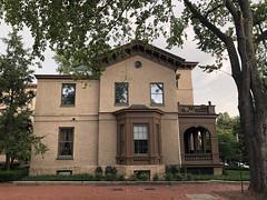 Italianate house, tree at Q and 30th streets NW, Washington, D.C.