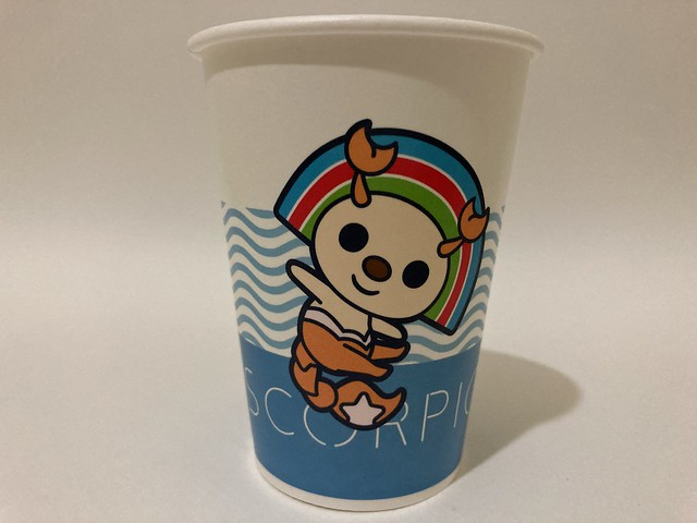 Photo:7-Eleven Taiwan OPEN小將 OPEN-chan Scorpio scorpion By Majiscup Paper Cup 紙コップ美術館