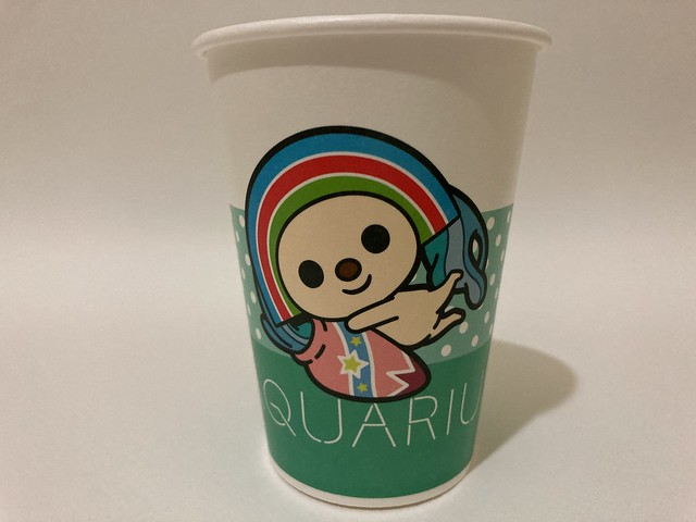 Photo:7-Eleven Taiwan OPEN小將 OPEN-chan Aquarius water bearer By Majiscup Paper Cup 紙コップ美術館