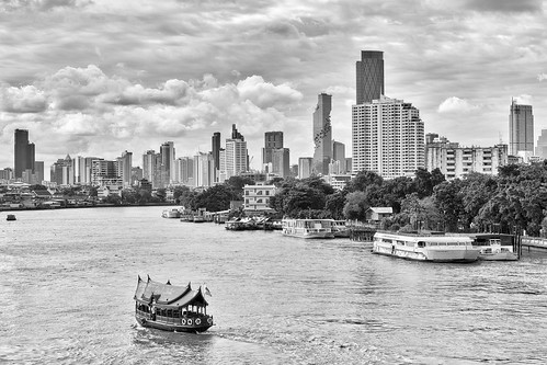 Bangkok – View from a bridge over the Chao Phraya river