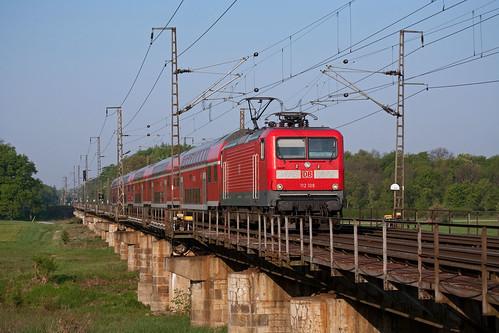 DB 112 108 + RE 18109 Magdeburg Hbf - Frankfurt (Oder)  - Biederitz