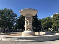 Dupont Circle fountain, summer morning, Washington, D.C.