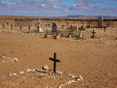 Farina in the Flinders Ramges. The historic cemetery of this now ghost town.
