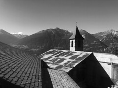 Roofs and a Church with view