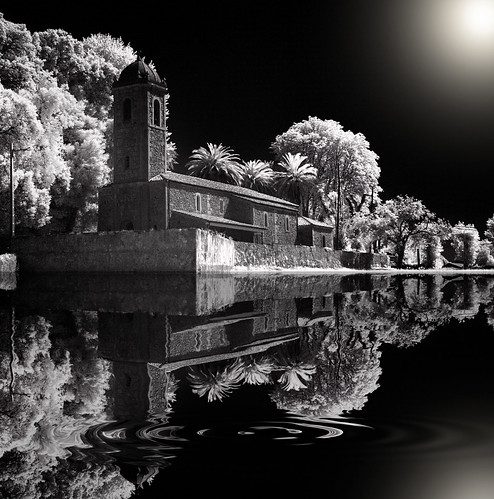 Divine pond recorded in infrared