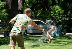 A water balloon fight is a covid safe activity