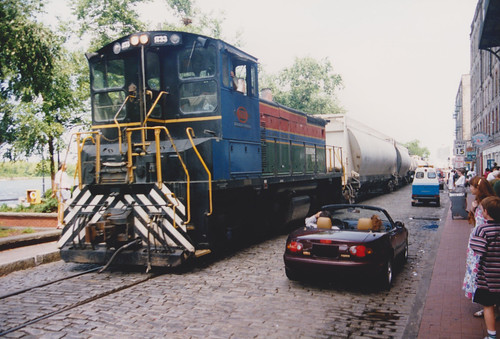 21st August 1995. Shared Access. The River Street Rambler No. 1733, Savannah, Georgia. USA