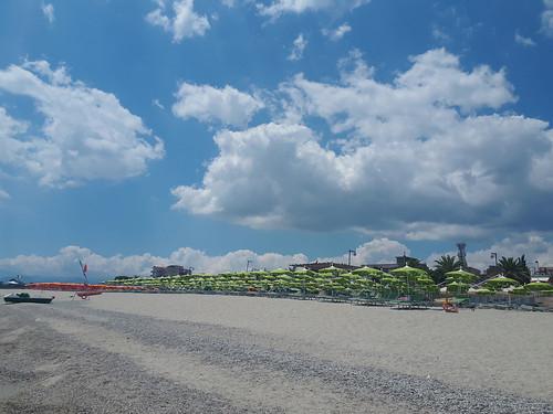 Summer on a solitary beach