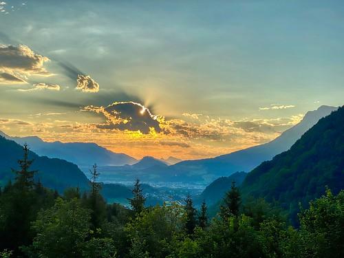 Morning mountain landscape near Kiefersfelden in Bavaria, Germany