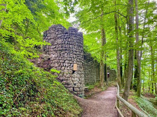 Wall of the Thierberg castle ruin in Tyrol, Austria