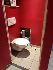 Toilet in Cave - fixing floor