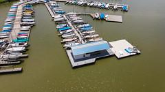 Boat docks at White Rock Lake.