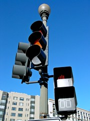 Traffic signal in Scott Circle