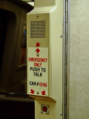 Emergency intercom on car 1245