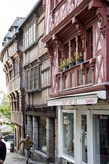 Rue des Chapeliers, Lannion, Brittany, France