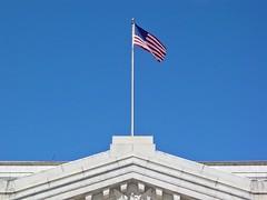 Flag on the Treasury Building