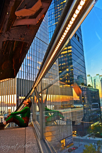 Beautiful Sunset at The Vessel Hudson Yards Manhattan New York City NY P00607 DSC_2478