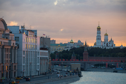 Sunset hunting, Moscow, Russia