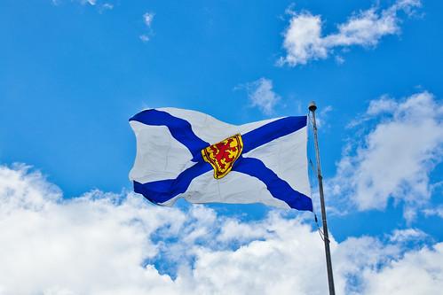 Nova Scotia Flag at Alderney Landing Dartmouth Nova Scotia 3