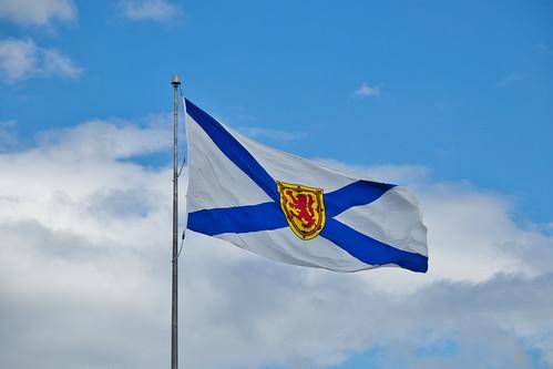 Nova Scotia Flag at Alderney Landing Dartmouth Nova Scotia 5