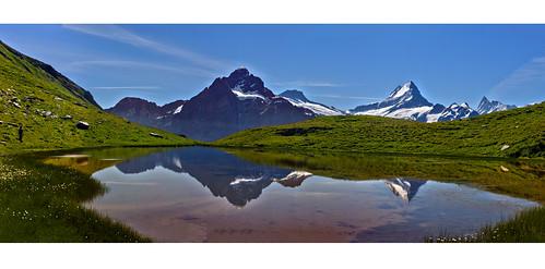 HaPPy Birthday Switzerland ; Alpine Panorama in First, Grindelwald. Canton of Bern Switzerland. izakigur 19 07 20 no. 234567 8.