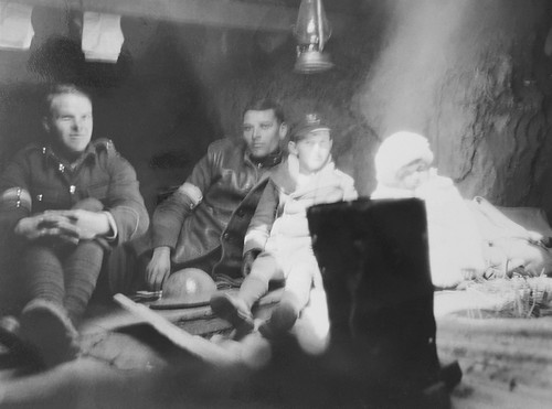 Reginald & Sylvia Harding Klimanek in a dug out during 1932 Japanese attack of Shanghai