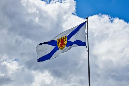 Nova Scotia Flag at Alderney Landing Dartmouth Nova Scotia 2