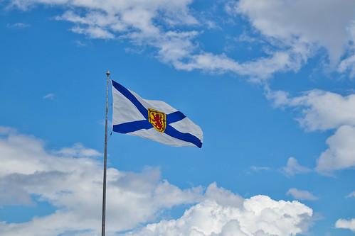 Nova Scotia Flag at Alderney Landing Dartmouth Nova Scotia 4