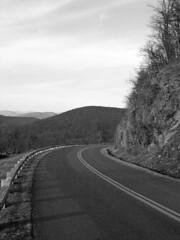 Blue Ridge Parkway at milepost 7