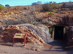 Historic Blinman in the Flinders Ragnes. This adit leads into the old copper mines wich began operations in 1862 with the Yudnamutana Mining Company. The mine finally closed around  1914.